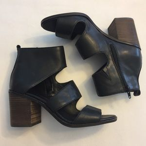 Lucky Brand Leather Cutout Bootie